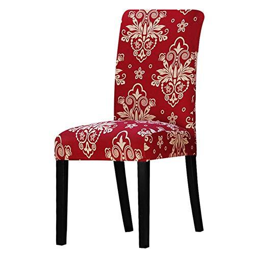 Spandex print Floral Chari hoes Stretch verwijderbare eetkamerstoel stoelhoes Hotel banket stoelhoezen voor kerst thuis bruiloft, K121, universele maat