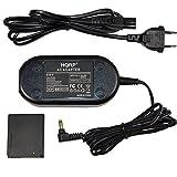HQRP Netzadapter mit DC Koppler für Canon PowerShot SX520 HS, PowerShot ELPH 500 HS, SD770 IS, SD980 IS