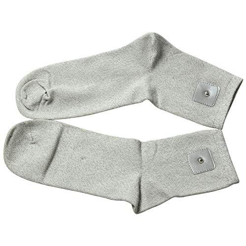 TALC Erdungskabel für Erdung, antimikrobielle leitfähige Silberfaser-Matte, besserer Schlaf, natürliches Wellness, gesunde Energie, wie Barfuß auf dem Gras Socks grau