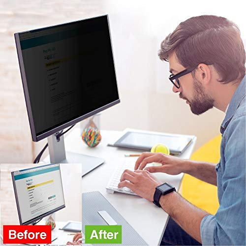 Computer Privacy Screen Filter 24 inches – Date Protection for Desktop Computer Security – Anti-Glare, Anti-Scratch, Blocks 96% UV – 16:9 Aspect Ratio-We Offer 2 Different 24