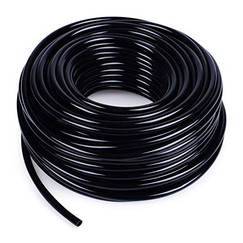 MIXC 100ft 1/4 inch Blank Distribution Tubing Drip Irrigation Hose Garden...