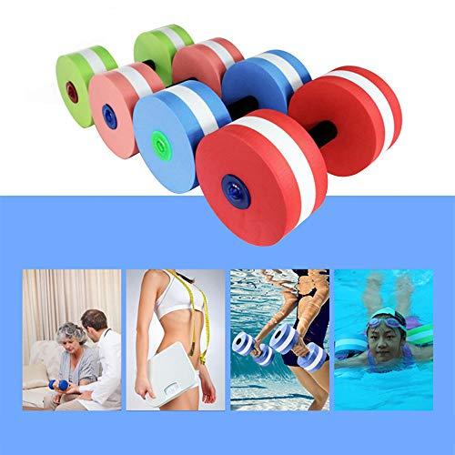 Wankd Aqua hanteln, Aqua Fitnessgerät Wassersport,Wasser Hanteln für Wasser Fitness Aquagym Aquajogging (F-2PCS verspielt blau)