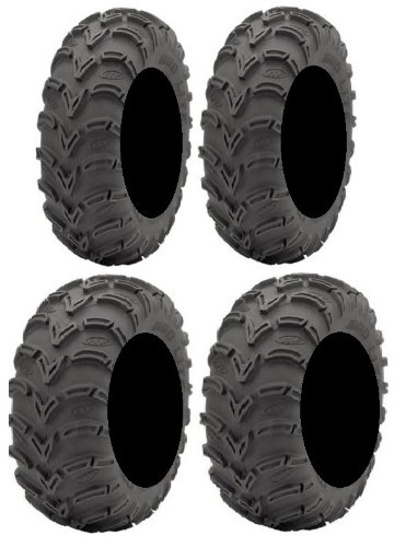 Full set of ITP Mud Lite (6ply) 25x8-12 and 25x10-12 ATV Tires (4)