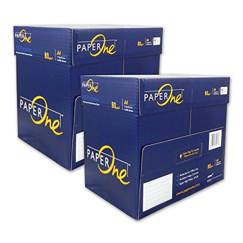 5000 Blatt Seiten Papier Marke PaperONE ALL Purpose 80 g/qm A4 weiß Kopierpapier Druckerpapier Laserpapier SUPER QUALITÄT 10 x 500 Seiten 2 Kisten a 2500 Blätter