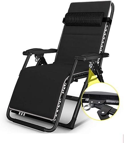 Chaise de Camping Chaise Longue Pliante à Positions Multiples, Chaise Pliante légère avec Repose-tête, Parfaite pour Le Jardin Le Camping Les Voyages la pêche la randonnée Pique-Nique - - No