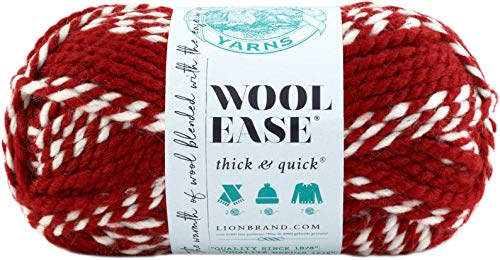Lion 640-602 Wool-Ease Thick & Quick Yarn , 97 Meters, Crimson