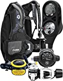 Aqua Lung Travel Scuba Gear Package Zuma BCD i300C Dive Computer Micron Reg Set, Midnight / Black ML/LG
