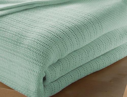 Musbury Decke für Einzelbett, 100 prozent Baumwolle, 180 / 230 cm, Mintgrün