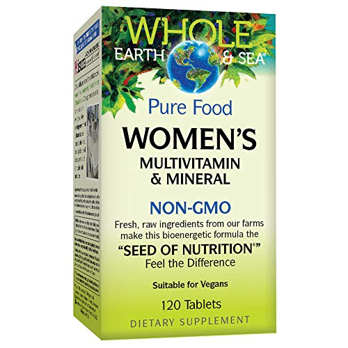 Whole Earth & Sea from Natural Factors, Women's Multivitamin & Mineral, Whole Food Supplement, Vegan, 120 Tablets (60 Servings)