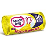 Handy Bag 30 litros Basura 30L, Reciclaje Envases, Extra Resistentes, 15 Bolsas,...