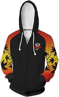 Cobra Kai Hoodie No Mercy Sweatshirt Yellow Fist Jacket Zipper/Pullover Coat