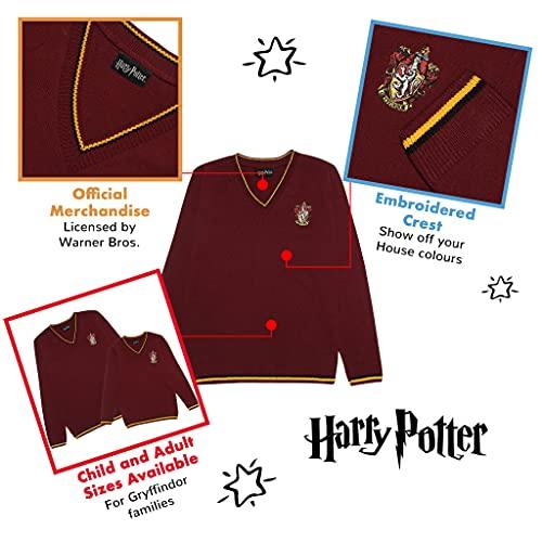 Harry-Potter-Gryffindor-House-Mens-Knitted-Jumper-Official-Merchandise-Gift-Idea-for-Husband-Boyfriend-Partner-Hogwarts-Wizarding-World