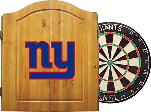 Imperial NFL Dart-Schrank-Set W/Stahl Spitze Borsten Dartscheibe und Darts, hell
