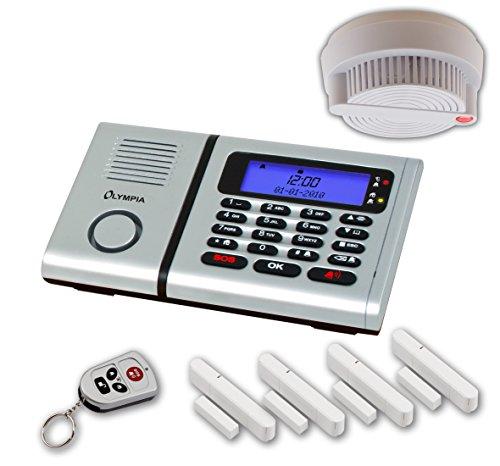 Olympia 5902 Protect 6060 Drahtlose Festnetz Alarmanlage mit Notruf und Freisprechfunktion, App...