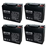 Universal Power Group UB12180 12V 18AH Internal Thread Battery for EW72 Mobility Scooter - 4 Pack