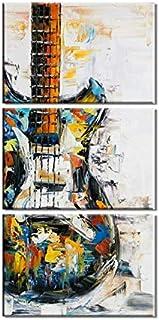 3 لوحات غير مؤطرة فن حديث لتزيين الحائط لوحة فنية راقية مطبوعة زيتية على قماش كتاني مزخرف