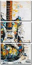 لوحة فنية جدارية غير مؤطرة من 3 لوحات لوحات فنية جدارية مطبوعة على قماش كتاني مزخرف
