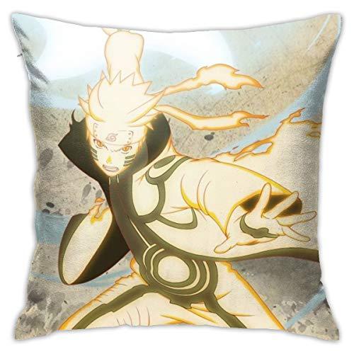 CVDGSAD Naruto Shippuden Ultimate Ninja Storm - Funda de almohada estándar de algodón, 45,7 x 45,7 cm