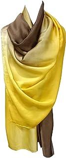 الأوشحة EFOCUS للنساء، ناعمة وخفيفة الوزن ودافئة متدرجة الألوان الشالات والأغطية لفساتين السهرة والأوشحة الحريرية للسيدات