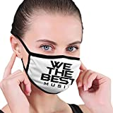 Men Classic Mouth Cover Anti-Dust DJ Khaled We The Best Music Wind Washable Face Masks Maskss Cover Women Beard Balaclava Sports Protection Scarf Black