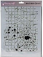 Dress My Craft Stencil A4-Splatter With Lines