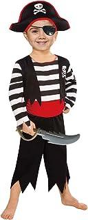 Children's Pirate Costume with Pirate Hat,Eyepatch,Pirate Cutlass
