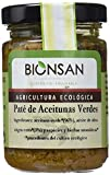 Bionsan Paté de aceitunas verdes Ecológico - 4 tarros de cristal de 140 gr - Total: 560 gr