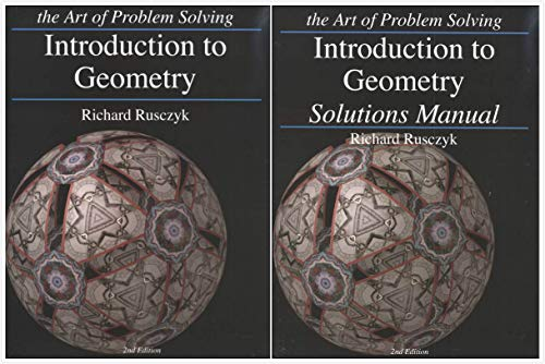 Art of Problem Solving: Introduction to Geometry Books Set (2 Books) - Introduction to Geometry,...