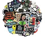 DZCYAN 50 Pcs/Set Hackers Graffiti Stickers Geek Java Programming Stickers for Luggage Laptop Motorcycle Skateboard Bicycle Decal Toy