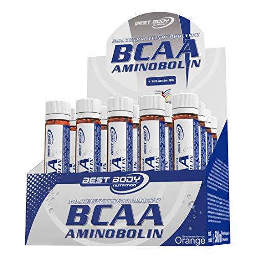 Best Body Nutrition BCAA Aminobolin, 20 Trinkfläschchen à 25 ml Orange