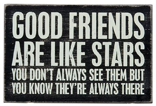 1 X Good Friends Are Like Stars - Mailable Wooden Greeting Card for Birthdays, Anniversaries, Weddings, and Special Occasions