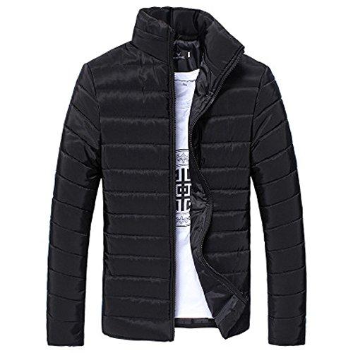 DYLUNG Herren Dicken Jacke Winter Basic Cotton Stand Zipper Coat Outwear Sweatshirt Top Warm FüR Mann