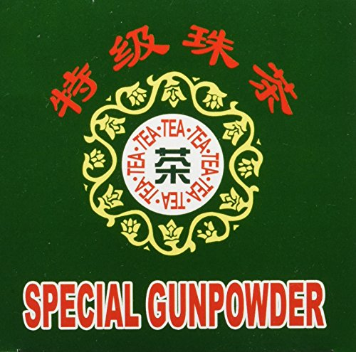 Greeting Pine Grüner Tee, Gunpowder, gerollt, 2er Pack (2 x 250 g Packung)