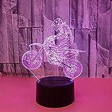 Yyhmkb Blanca Autos Lampara Para Escritorio Mas Lampara Mesa Motocicleta 3D Luz Colorida Luz Estéreo Visual Led Gradiente Táctil Control Remoto Luz Visual