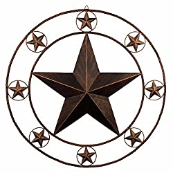 29.5″ Large Metal Circled Star
