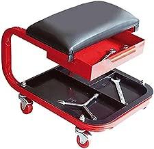 TABURETE con ruedas para trabajo en taller mecánico reforzado con cajón