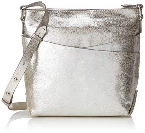 Clarks Damen Topsham Charm Umhängetasche, Silber (Silver Leather), Onesize