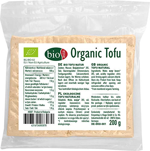 BIOASIA Bio Tofu DE-ÖKO-001/ BG-BIO-02, 5er Pack (5 x 200 g)