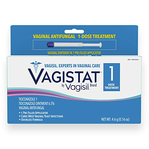 Vagistat 1, Single-Dose, One Day Yeast Infection Treatment for Women, Comes with 1 Pre-Filled, No Touch Vaginal Applicator, By Vagisil