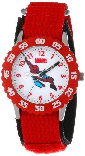 """Marvel Kids' W000104 """"Spider-Man Time Teacher"""" Stainless Steel Watch"""