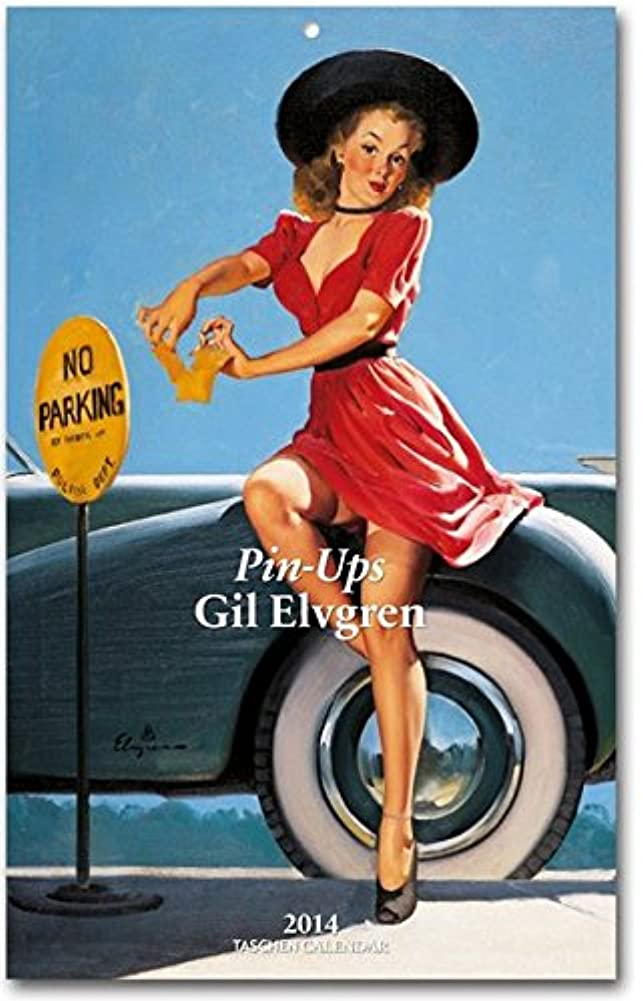 ロマンス滝針Pin-ups Gil Elvgren 2014 Calendar (Taschen Weekly Tear-off Calendars)