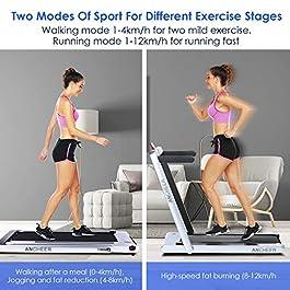 ANCHEER 2 in1 Folding Treadmill, Smart 2.25 HP Under Desk Tr...