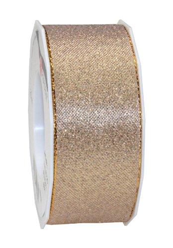 C.E. Pattberg Wien Oro, 22 m Metallico per Confezioni, Larghezza 4,1 cm, Accessori per Decorazioni e Artigianato, Nastro per Regali, per Ogni Occasione, 40mm-20m