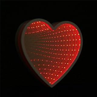 Clearance! LED Decor Light WATOPI Mirror Light Sign Heart