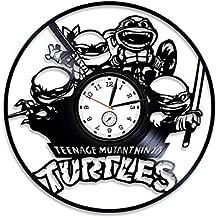 Kovides Teenage Mutant Ninja Turtles Vinyl Clock Ninja Turtles Clock Vinyl Record Wall Clock Ninja Turtles Vinyl Wall Clock Ninja Turtles Gift Ninja Turtle Wall Clock Large Ninja Turtles Gift for Kids