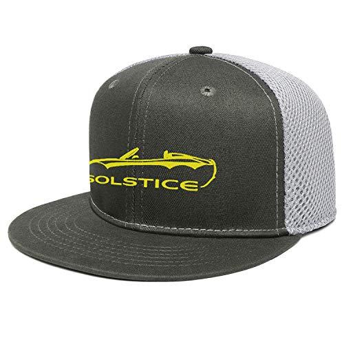 XQHNG Po-ntiac So-lstice Convertible Men Women Novelty Flat Brim Mesh Dad Hat Sun Cap Adjustable Snapback