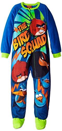 Komar Kids Angry Birds - Manta de forro polar para niño grande, color azul - S
