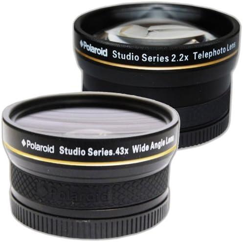 2021 PLR Studio Series .43x High Definition Wide Angle Lens With Macro Attachment + PLR Studio Series 2.2X High Definition Telephoto Lens Travel Kit For The Olympus Evolt E-30, high quality E-300, E-330, E-410, E-420, E-450, online E-500, E-510, E-520, E-600, E-620, E-1, E-3, E-5 Digital SLR Cameras Which Have Any Of These (14-42mm, 40-150mm, 70-300mm) Olympus Lenses online sale