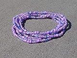 Bau[m]werk Handmade in Germany Armband Schmuck Glasperlen Wickelarmband Flieder lila Lavendel Boho Ibiza Style