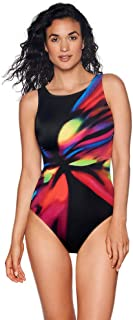 Reebo Women's Moonstruck High Neck 1-Piece Swimsuit